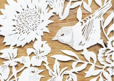 Bespoke Papercut - Flowers and Birds - Papercut