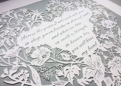 Papercut 25th Anniversary - Side left on Grey - Whispering Paper