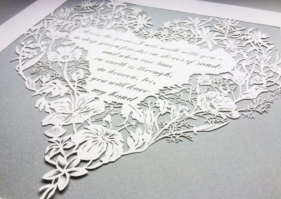 Papercut 25th Anniversary -Bottom on Grey - Whispering Paper