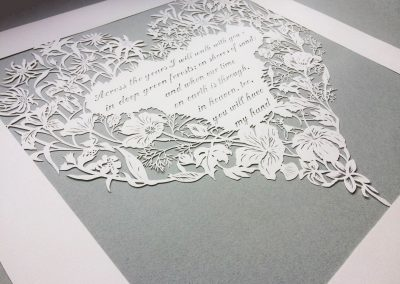 Papercut 25th Anniversary - Total from left side on Grey - Whispering Paper