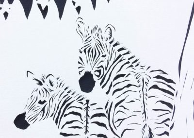 Custom Birth Announcement Cards - Stripes - Detail Zebras - Whispering Paper