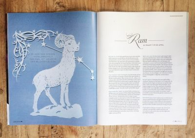 Papercut Illustrations for Libelle Magazine - Magazine - Aries