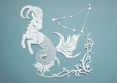 Papercut Illustrations for Libelle Magazine - Capricorn