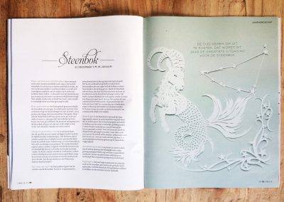 Papercut Illustrations for Libelle Magazine - Magazine - Capricorn
