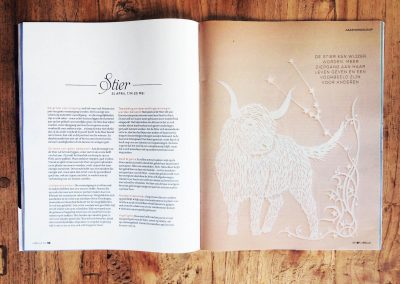 Papercut Illustrations for Libelle Magazine - Magazine - Taurus