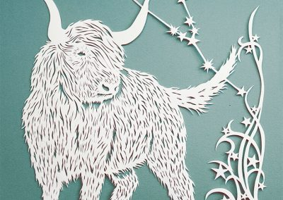 Papercut Illustrations for Libelle Magazine - Taurus