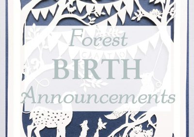 Custom Birth Announcement Forest Celebration