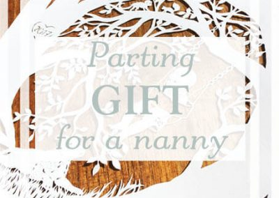 Parting Papercut – Goodbye gift for the Nanny