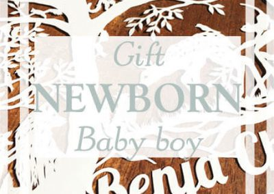 Papercut for a newborn baby boy