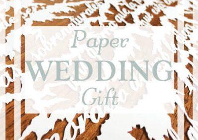 1st Anniversary Papercut