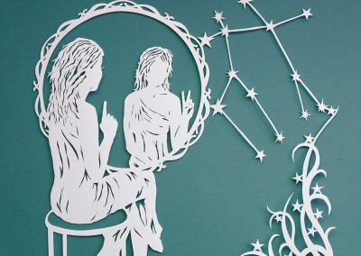 Papercut Illustrations for Libelle Magazine - Gemini
