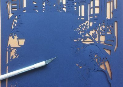 Papercut Birthday Gift - Cityscape poem - Work in Progress - Whispering Paper