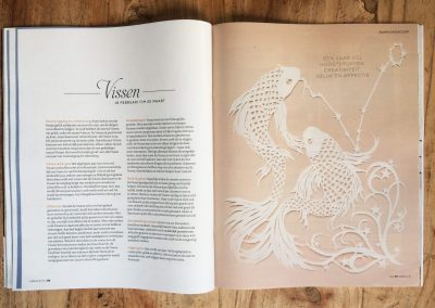 Papercut Illustrations for Libelle Magazine - Magazine - Pisces