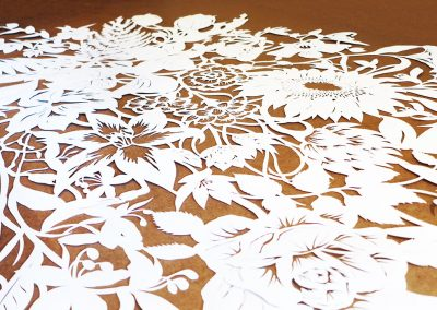 Corporate Commission – Papercut VT Wonen TV Show – Detail Unframed 2 - Whispering Paper