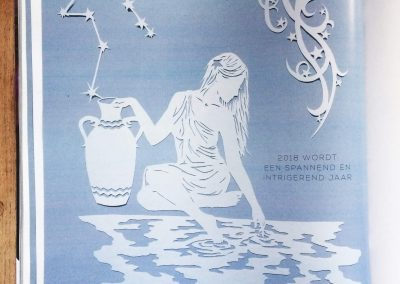 Papercut Illustrations for Libelle Magazine - Magazine - Aquarius