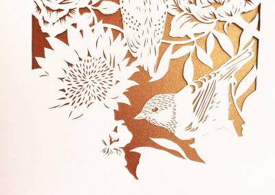 Bespoke Papercut - Flowers and Birds - Work in Progress - Whispering Paper