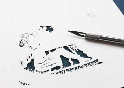 Papercut Birth Announcement - Aksel - Work in Progress 1