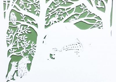 Custom Papercut Newborn Baby Boy - Work in Progress - Whispering Paper