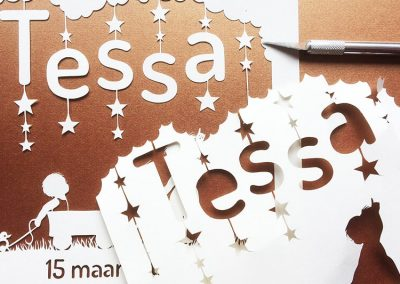 Custom Birth Announcement – Tessa