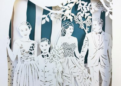 Anniversary Family Wedding - Layered Papercut - Detail Family 1