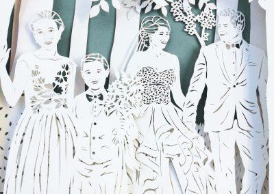 Anniversary Family Wedding - Layered Papercut - Detail Family 3