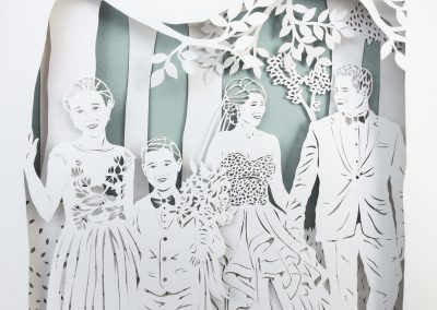 Anniversary Family Wedding - Layered Papercut - Detail Family 4