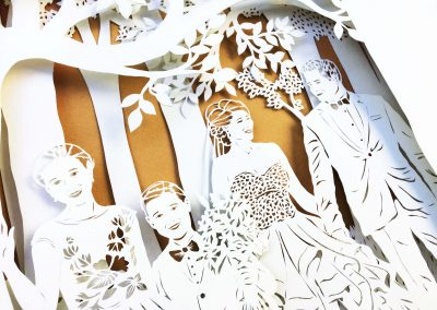 Anniversary Family Wedding - Layered Papercut - Detail Family 2