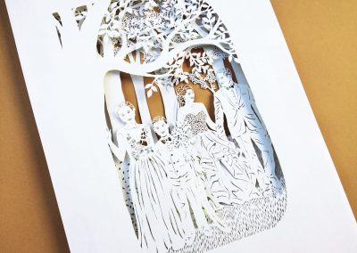 Anniversary Family Wedding - Layered Papercut - Total Side