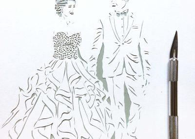 Anniversary Family Wedding - Layered Papercut - Work in Progress - Couple