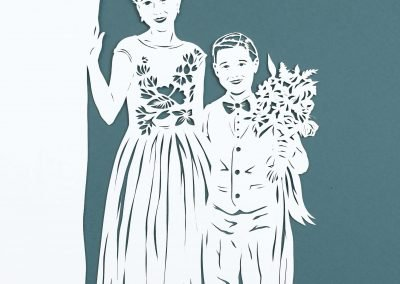 Anniversary Family Wedding - Layered Papercut  - Kids