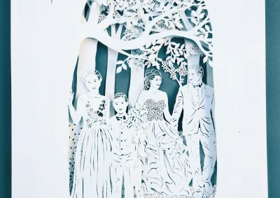 Anniversary Family Wedding - Layered Papercut - Total