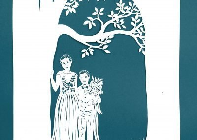 Anniversary Family Wedding - Layered Papercut - Layer 1