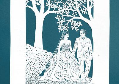 Anniversary Family Wedding - Layered Papercut - Layer 2