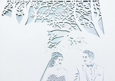 Anniversary Family Wedding - Layered Papercut - Work in Progress - Date