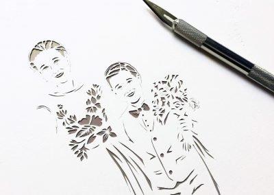 Anniversary Family Wedding - Layered Papercut - Work in Progress - Kids