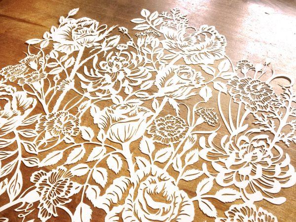 Modulair lasercut - Romantic Flowers - Detail top - Whispering Paper