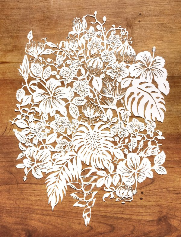 Modulair lasercut - Tropical Flowers - Total - Whispering Paper