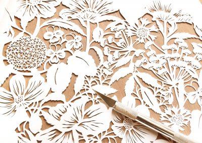 Modulair lasercut - Wild Flowers - Work in Progress - Whispering Paper