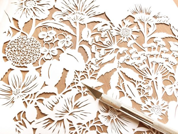 Modulair lasercut - Wild Flowers - Work in Progress - Whispering Paper