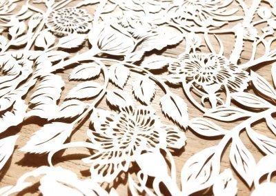 Modulair lasercut - Romantic Flowers - Detail - Whispering Paper