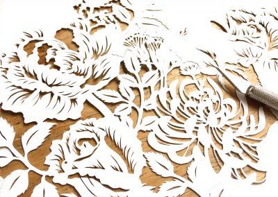Modulair lasercut - Romantic Flowers - Work in Progress - Whispering Paper
