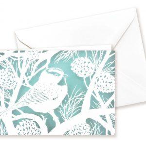Double card - Bird in wintertree