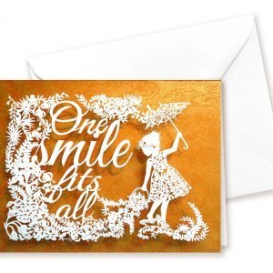 Double card - One smile - yellow
